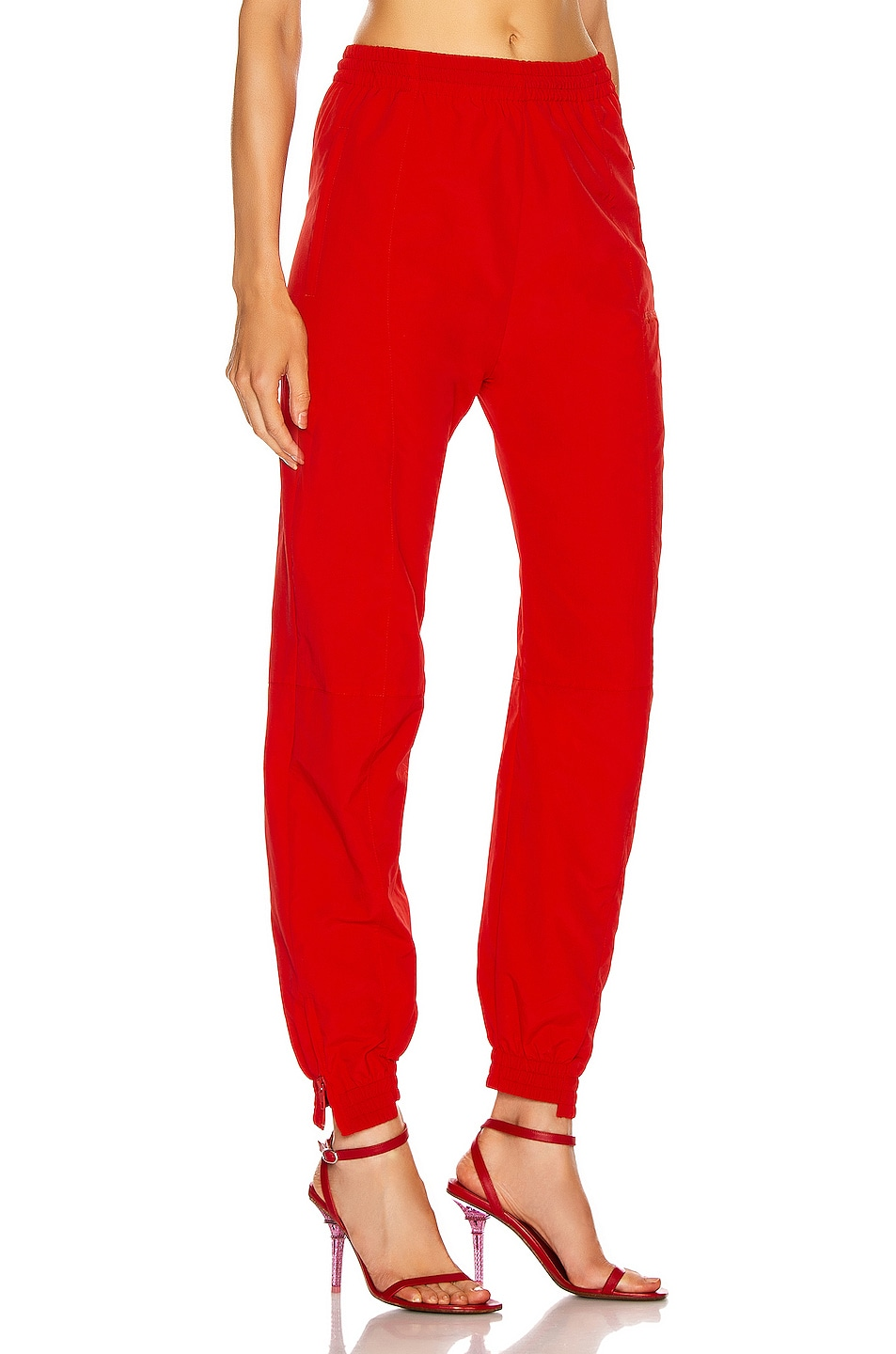 Image 2 of VETEMENTS Cut Up Tracksuit Pant in Red