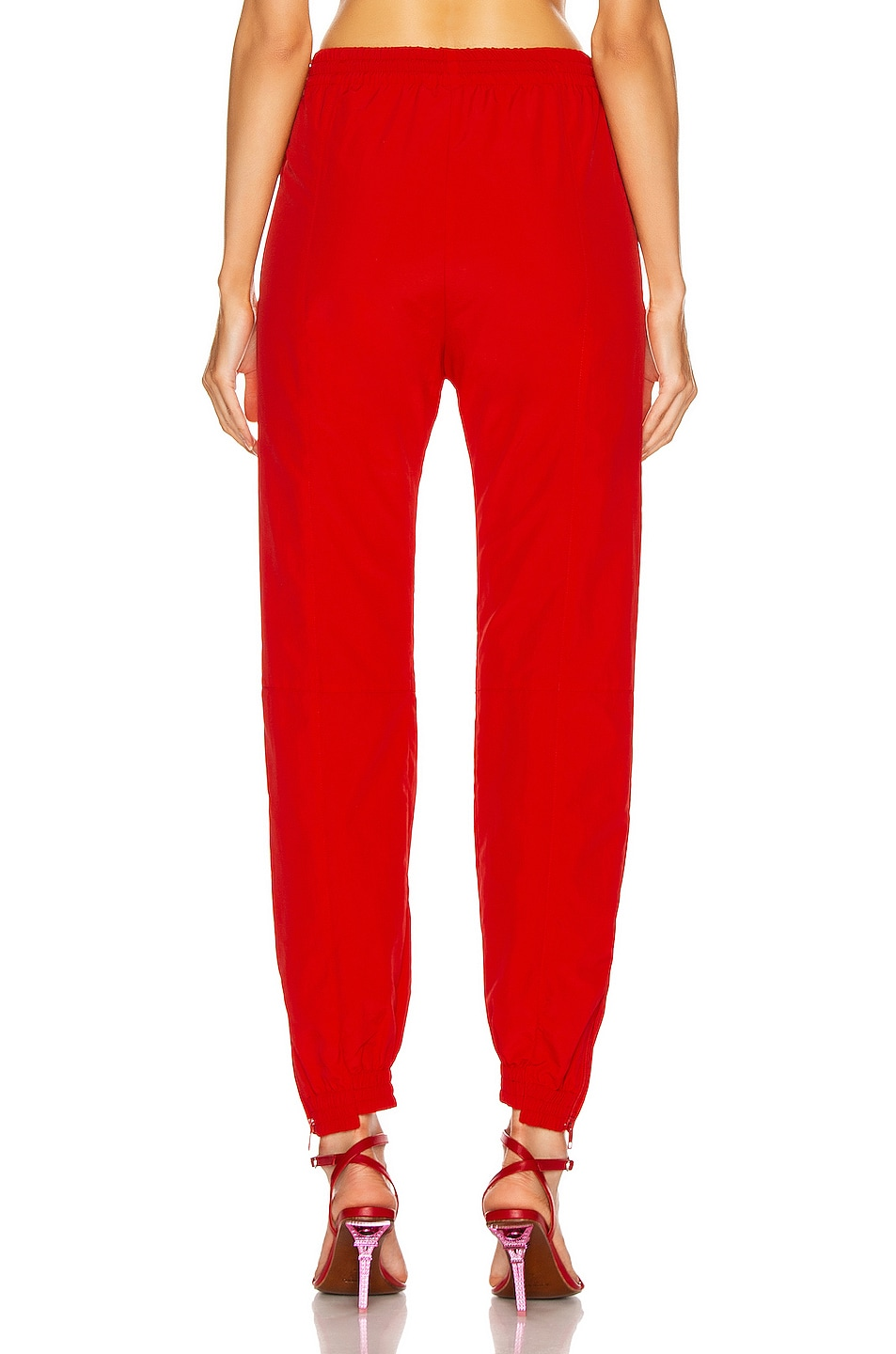 Image 4 of VETEMENTS Cut Up Tracksuit Pant in Red