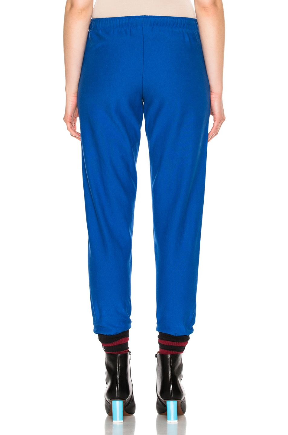 Image 5 of VETEMENTS x Champion Knee Shaped Tape Sweatpants in Blue