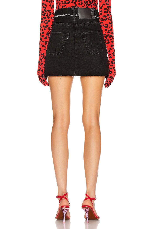 Image 3 of VETEMENTS Mini Denim Skirt in Black