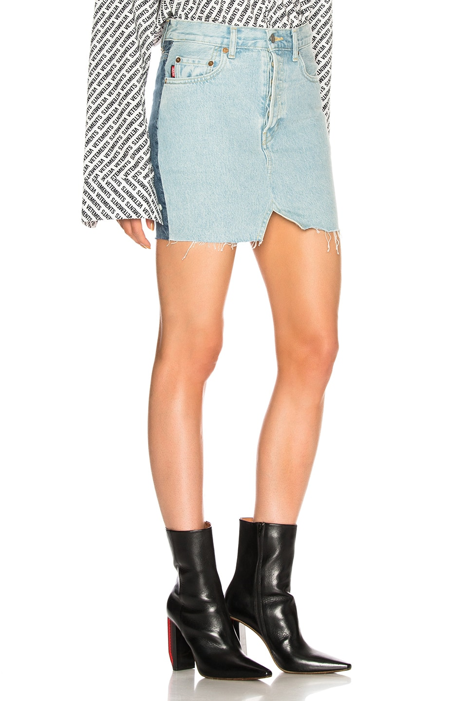 Image 2 of VETEMENTS x Levis Denim Mini Skirt in Blue