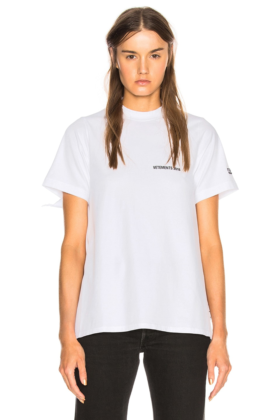 Image 2 of VETEMENTS Open Back Graphic Tee in White