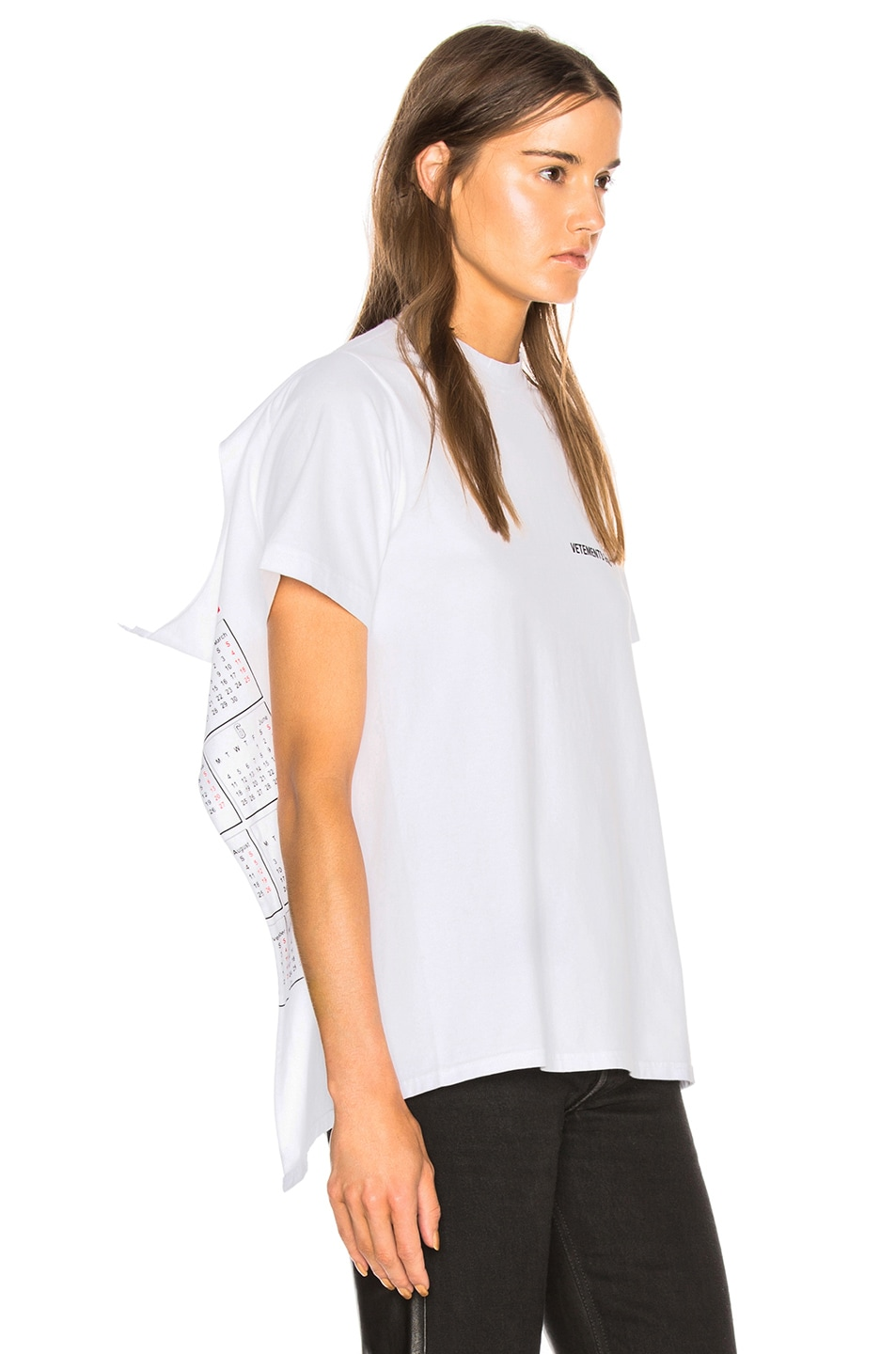 Image 3 of VETEMENTS Open Back Graphic Tee in White