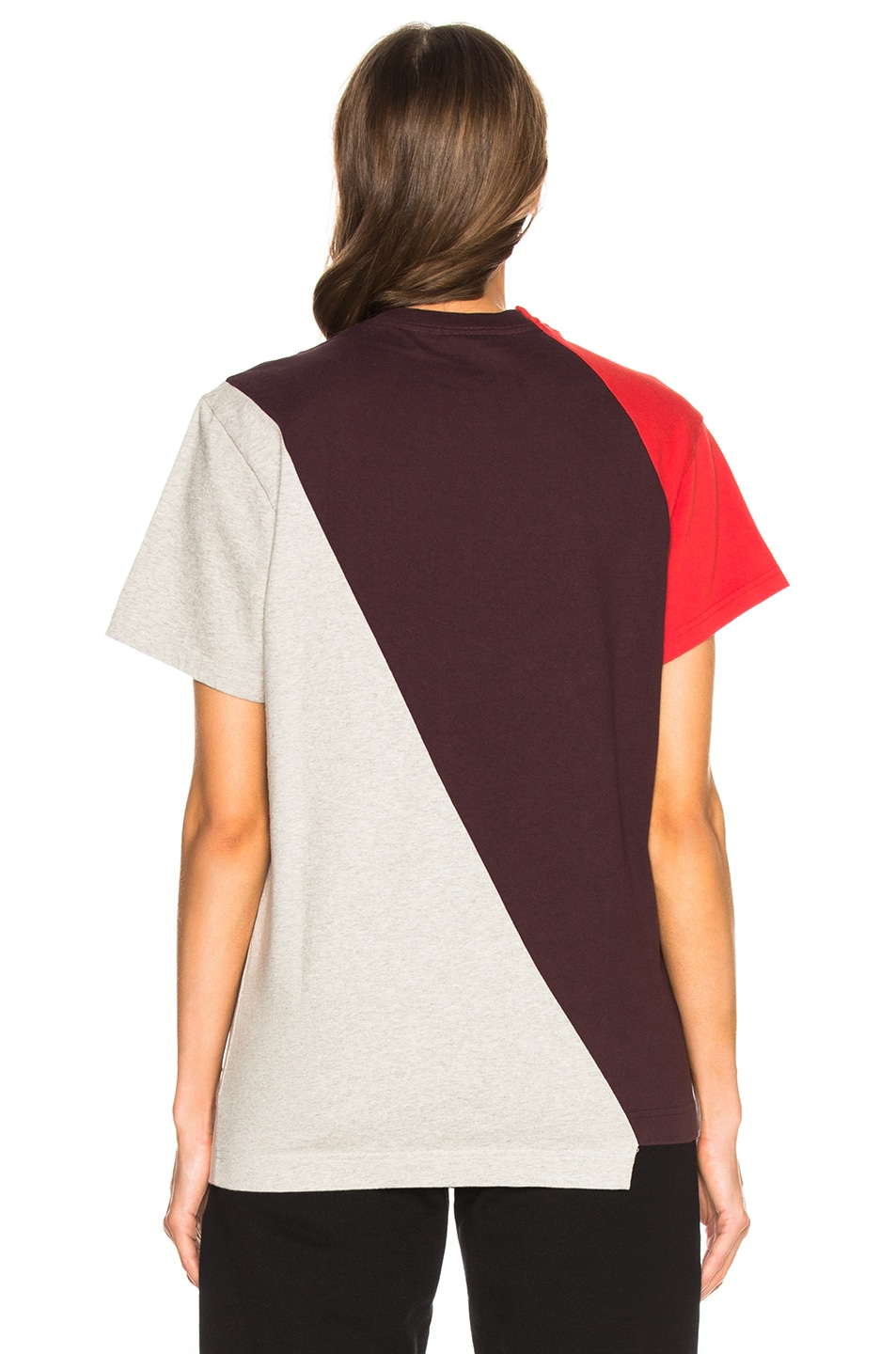 Image 5 of VETEMENTS Cutup Graphic Tee in Red Multicolor