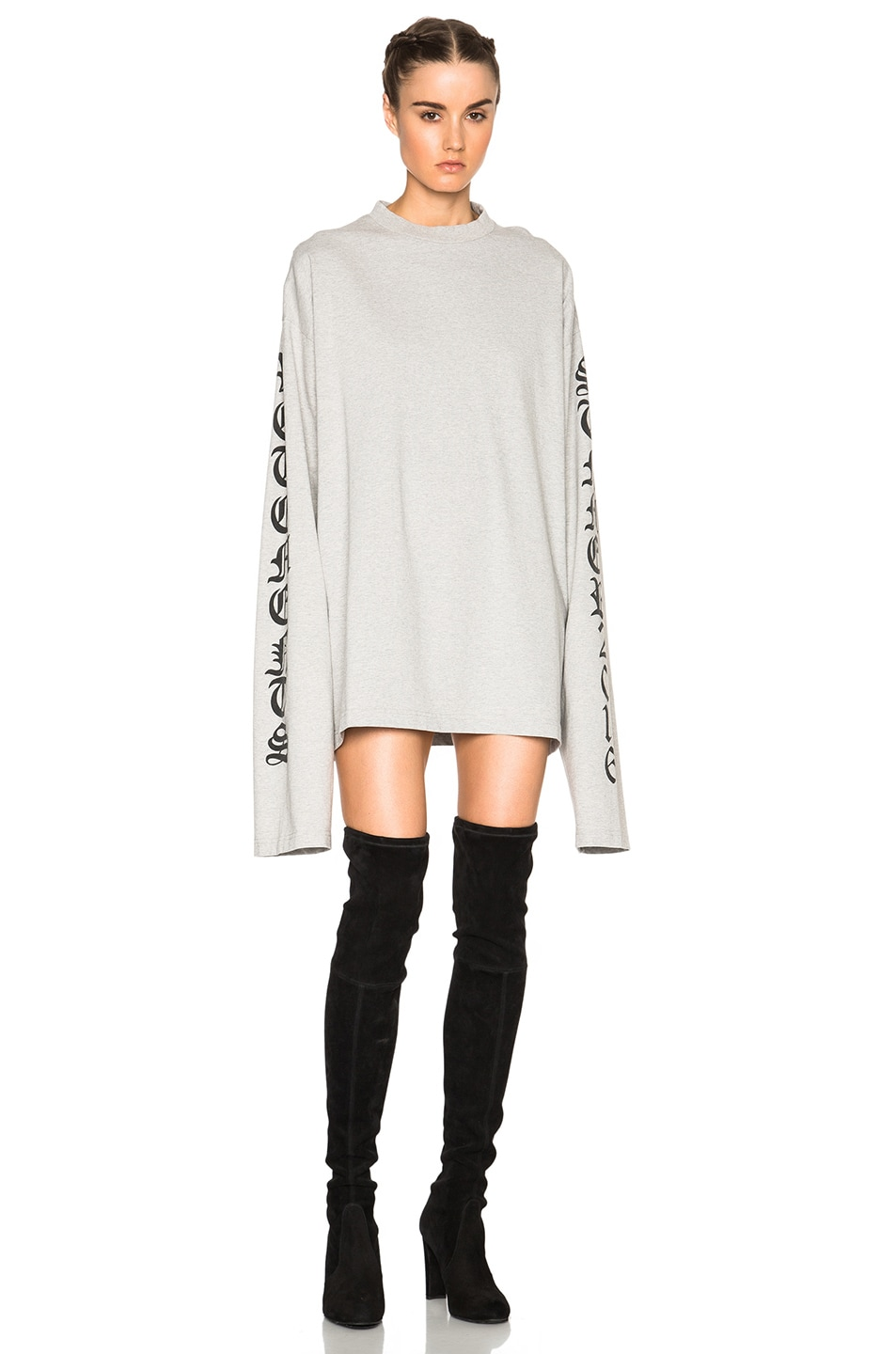 Image 1 of VETEMENTS Oversized T Shirt in Grey