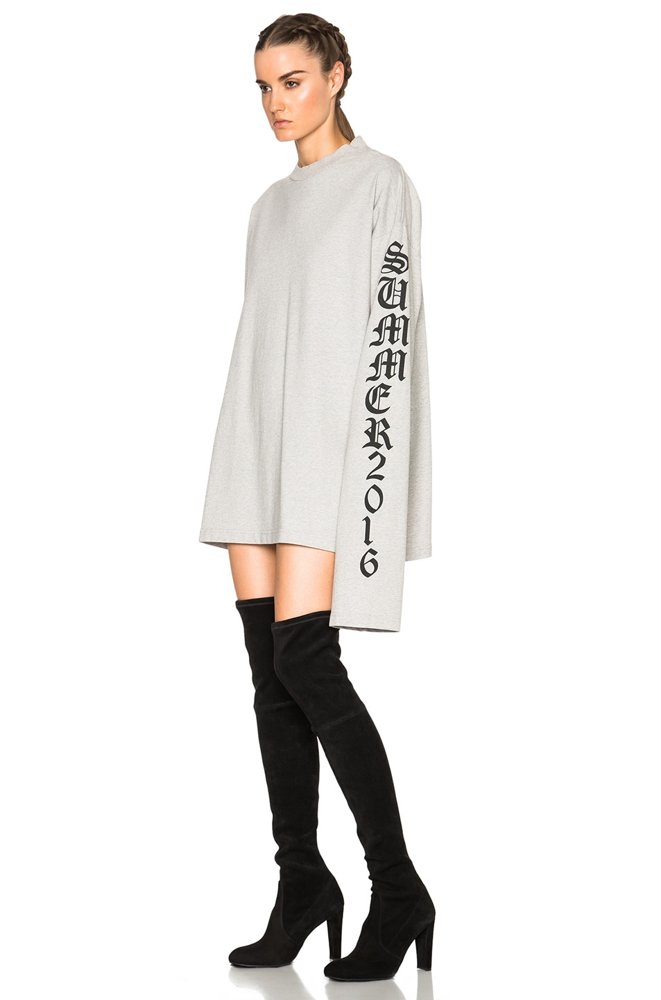 Vetements Oversized T Shirt In Grey Fwrd Image 2 Of
