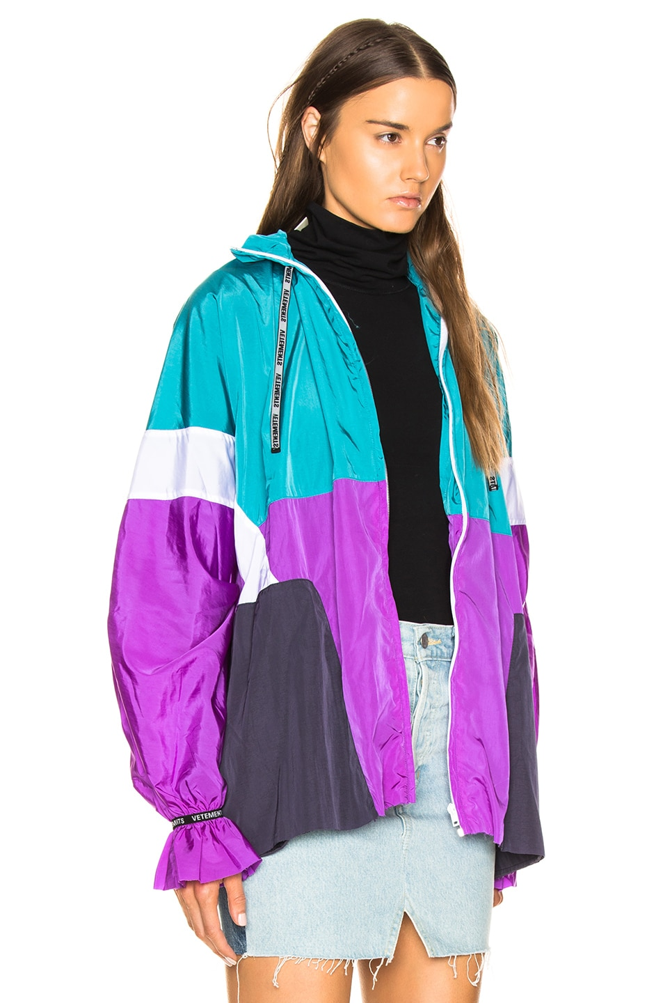 Image 3 of VETEMENTS Tracksuit Blouse in Blue, White & Purple