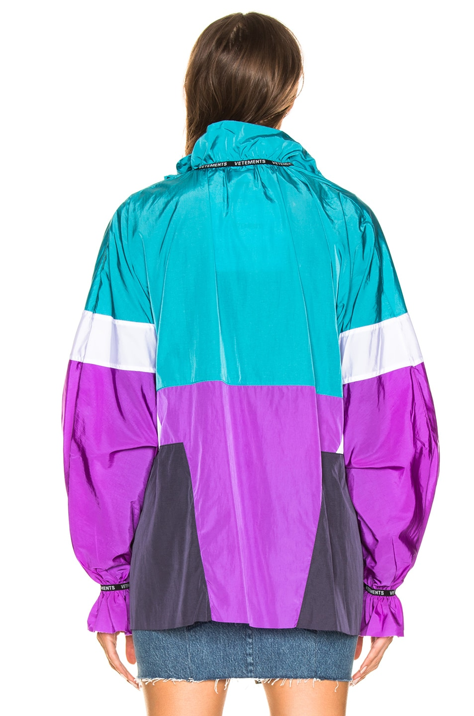 Image 4 of VETEMENTS Tracksuit Blouse in Blue, White & Purple