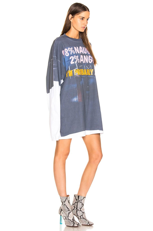 """Image 2 of VETEMENTS Demna's Favorite Long Sleeve """"Naughty Angel"""" in Blue & Grey"""