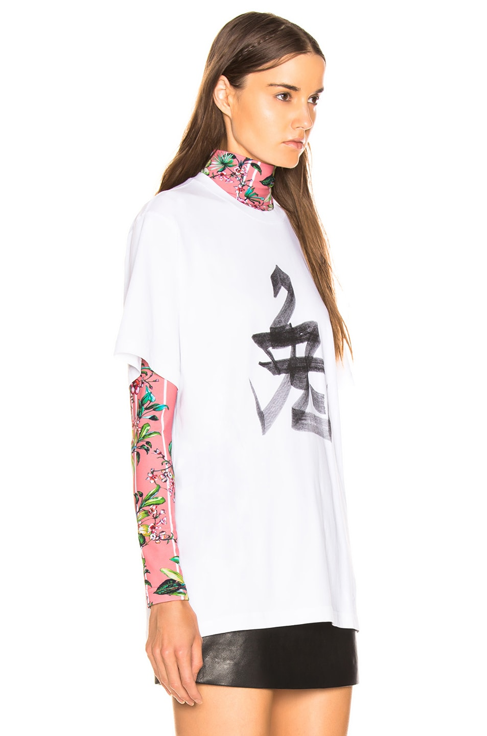 Image 3 of VETEMENTS Rabbit Chinese Zodiac T Shirt in White