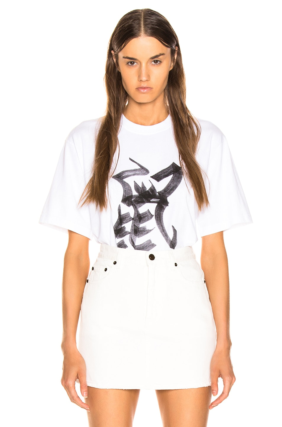 Image 1 of VETEMENTS Rat Chinese Zodiac T Shirt in White