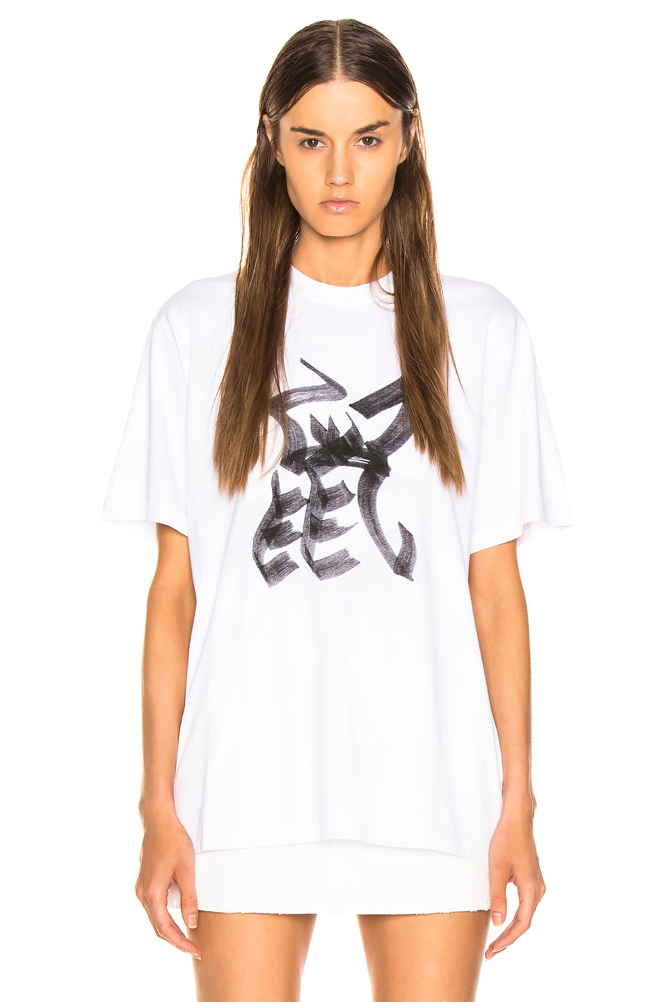 Image 2 of VETEMENTS Rat Chinese Zodiac T Shirt in White