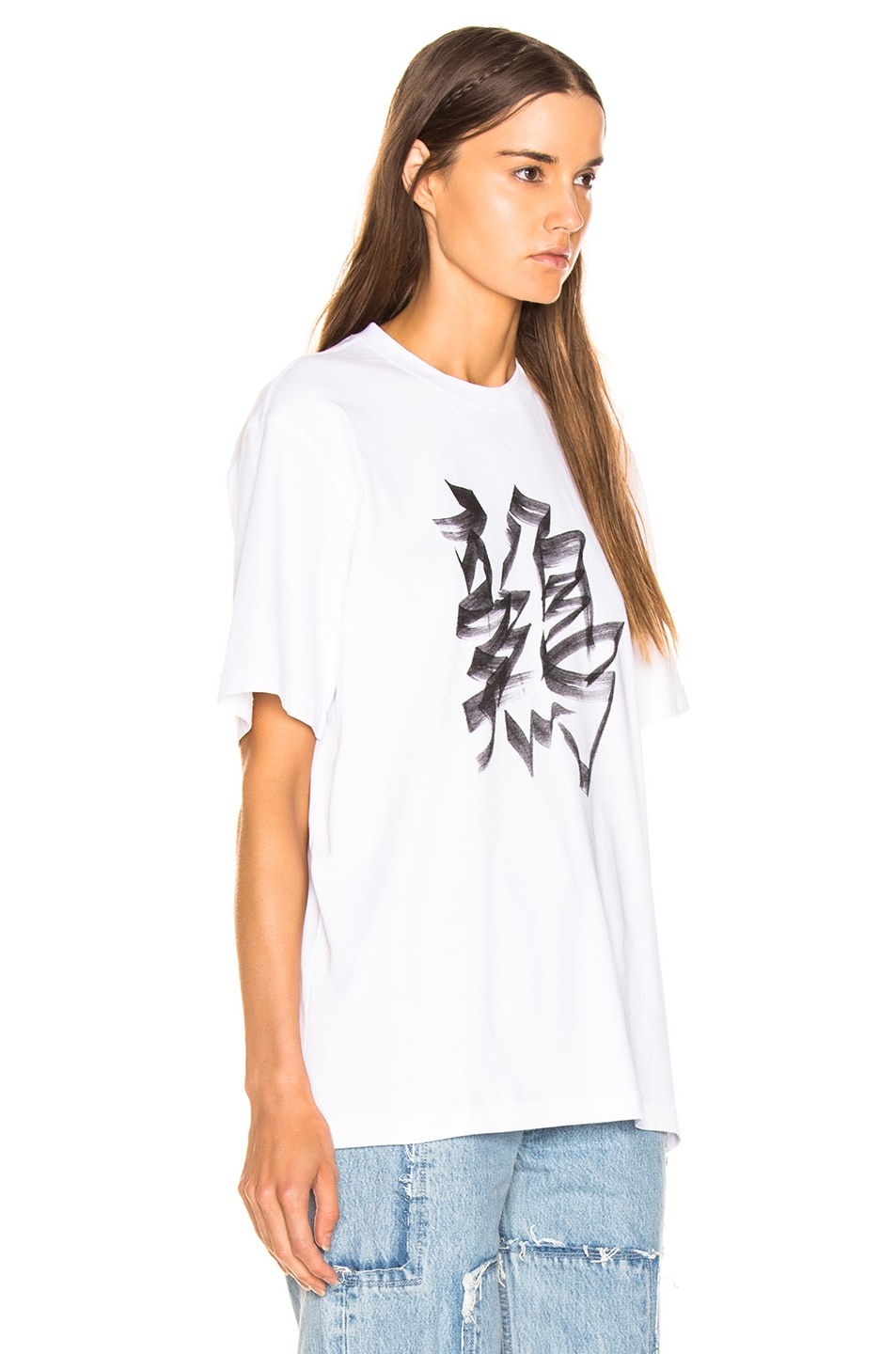 Image 3 of VETEMENTS Rooster Chinese Zodiac T Shirt in White