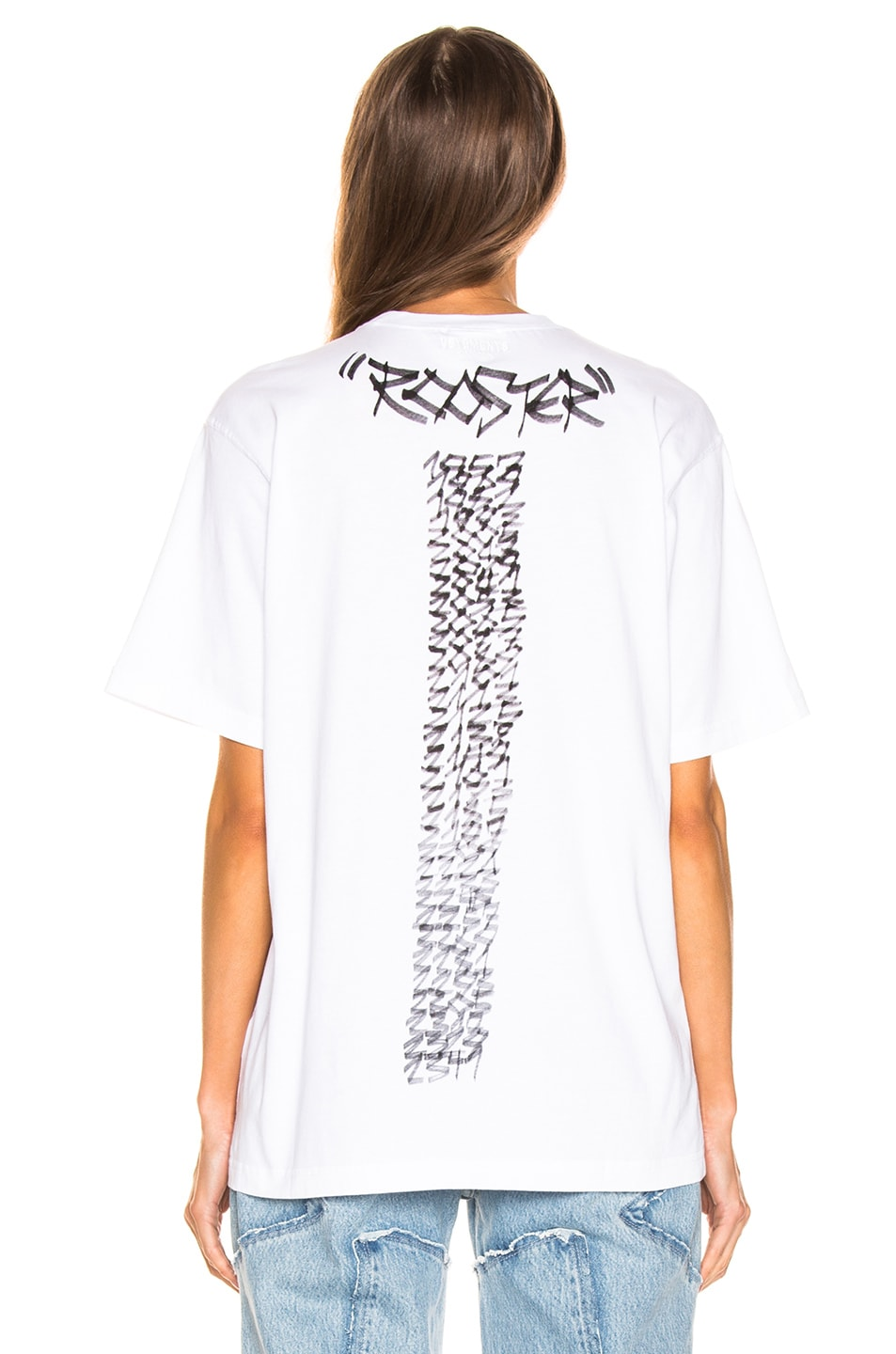 Image 4 of VETEMENTS Rooster Chinese Zodiac T Shirt in White