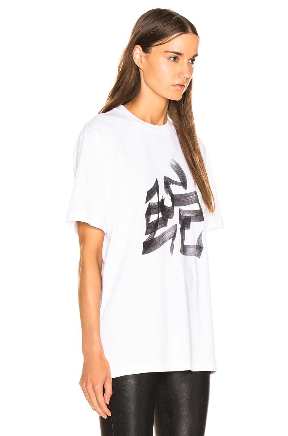 Image 3 of VETEMENTS Snake Chinese Zodiac T Shirt in White