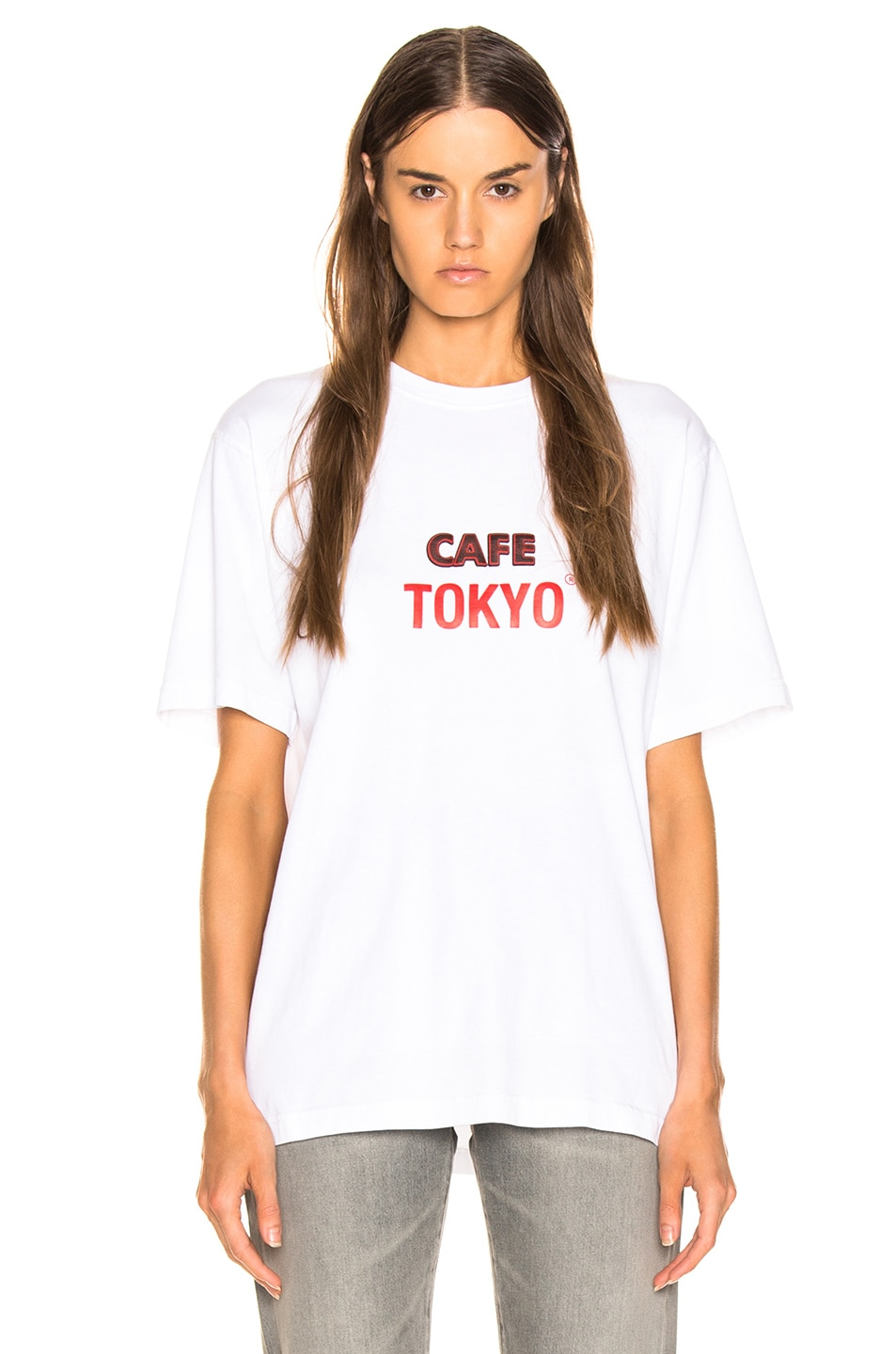 Image 2 of VETEMENTS Tokyo & Reykjavik T Shirt in White