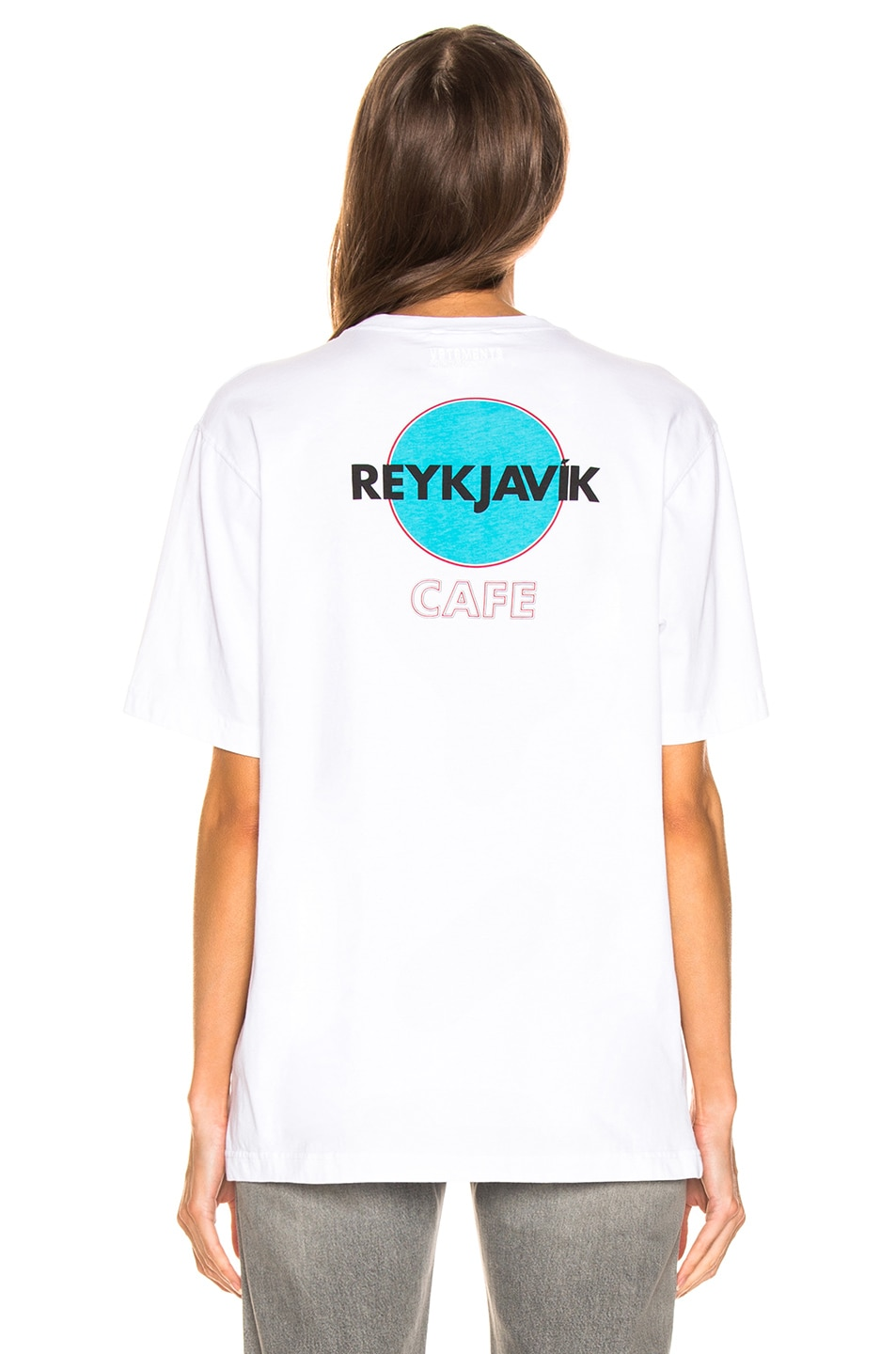 Image 4 of VETEMENTS Tokyo & Reykjavik T Shirt in White