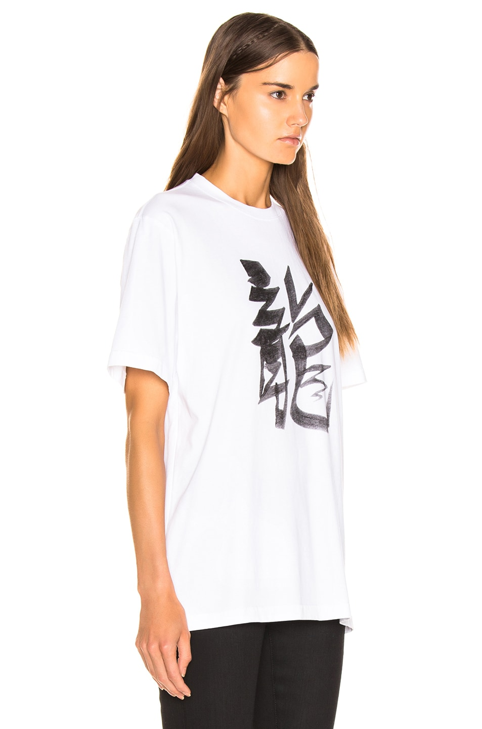 Image 3 of VETEMENTS Dragon Chinese Zodiac T Shirt in White