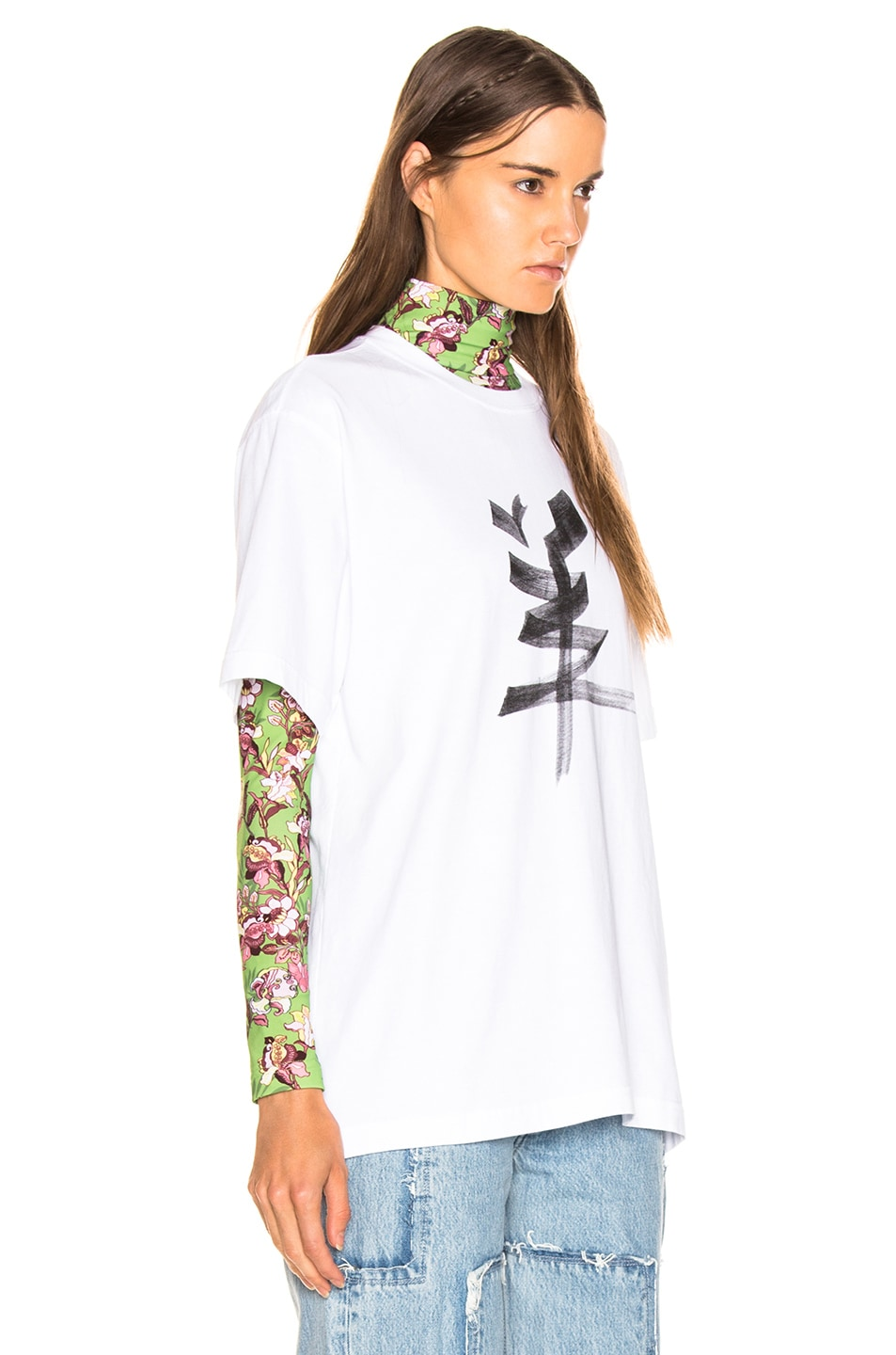 Image 3 of VETEMENTS Goat Chinese Zodiac T Shirt in White