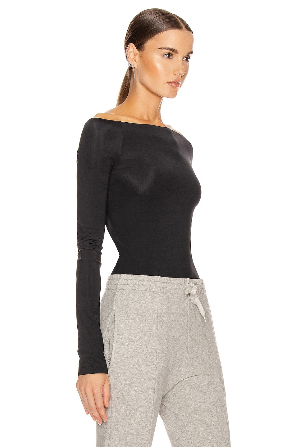 Image 2 of VETEMENTS Open Shoulder Top in Black