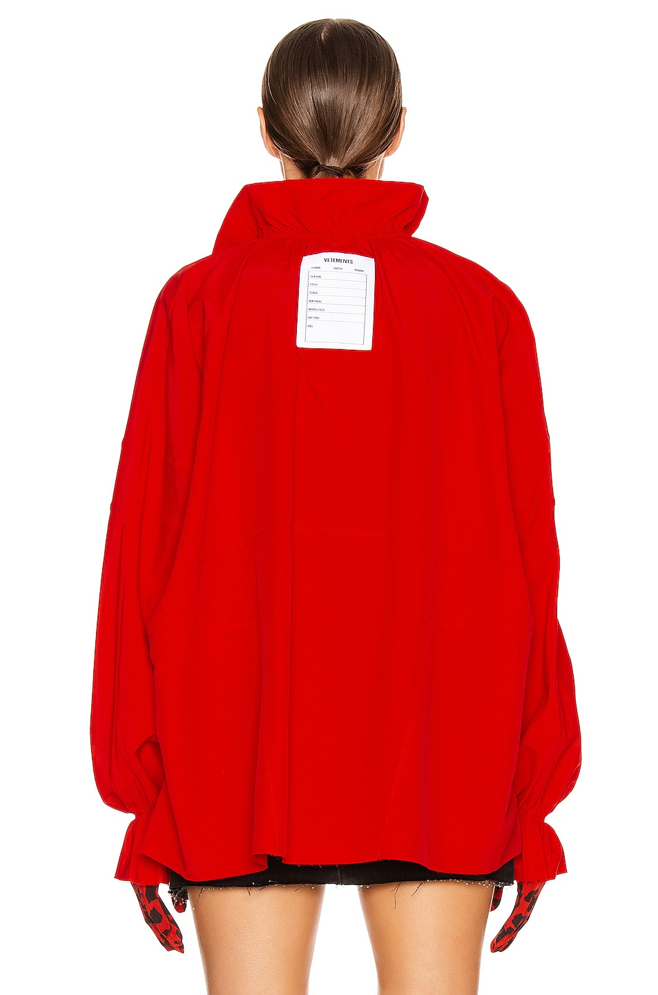 Image 5 of VETEMENTS Tracksuit Blouse in Red