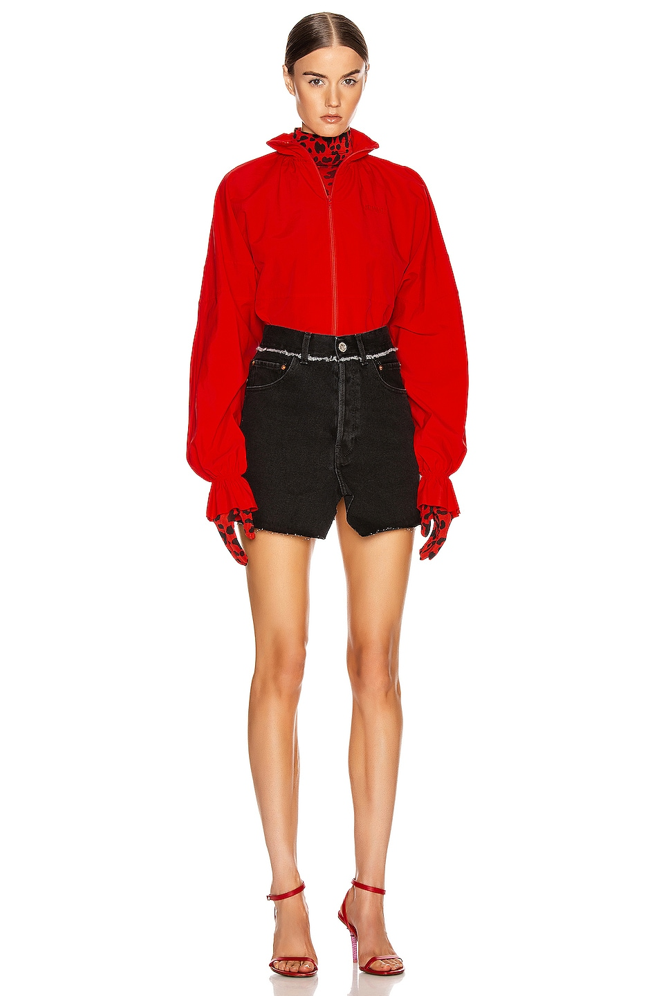 Image 6 of VETEMENTS Tracksuit Blouse in Red