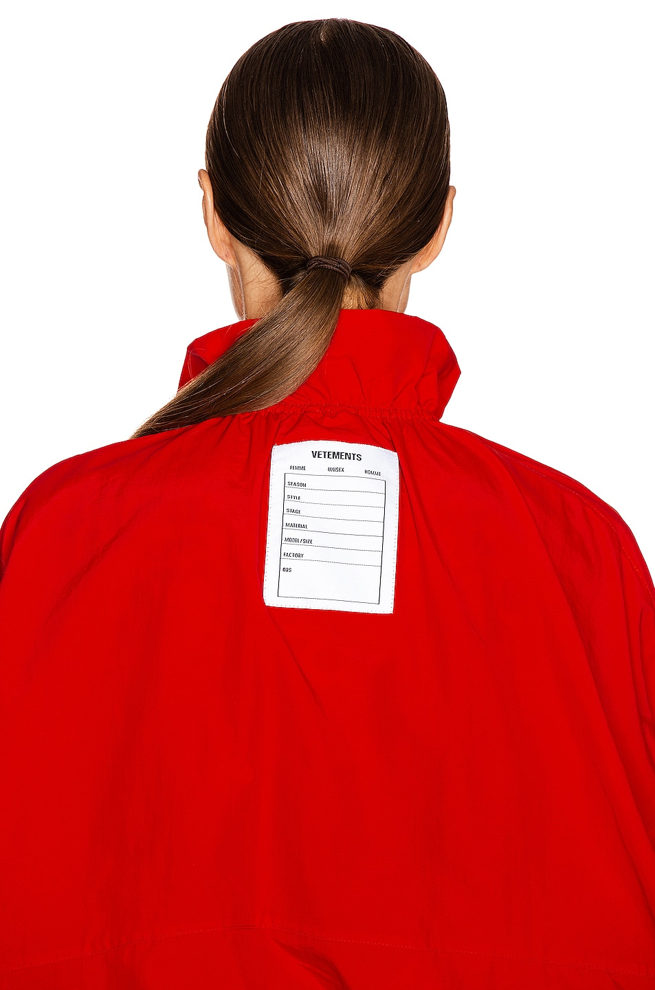 Image 7 of VETEMENTS Tracksuit Blouse in Red