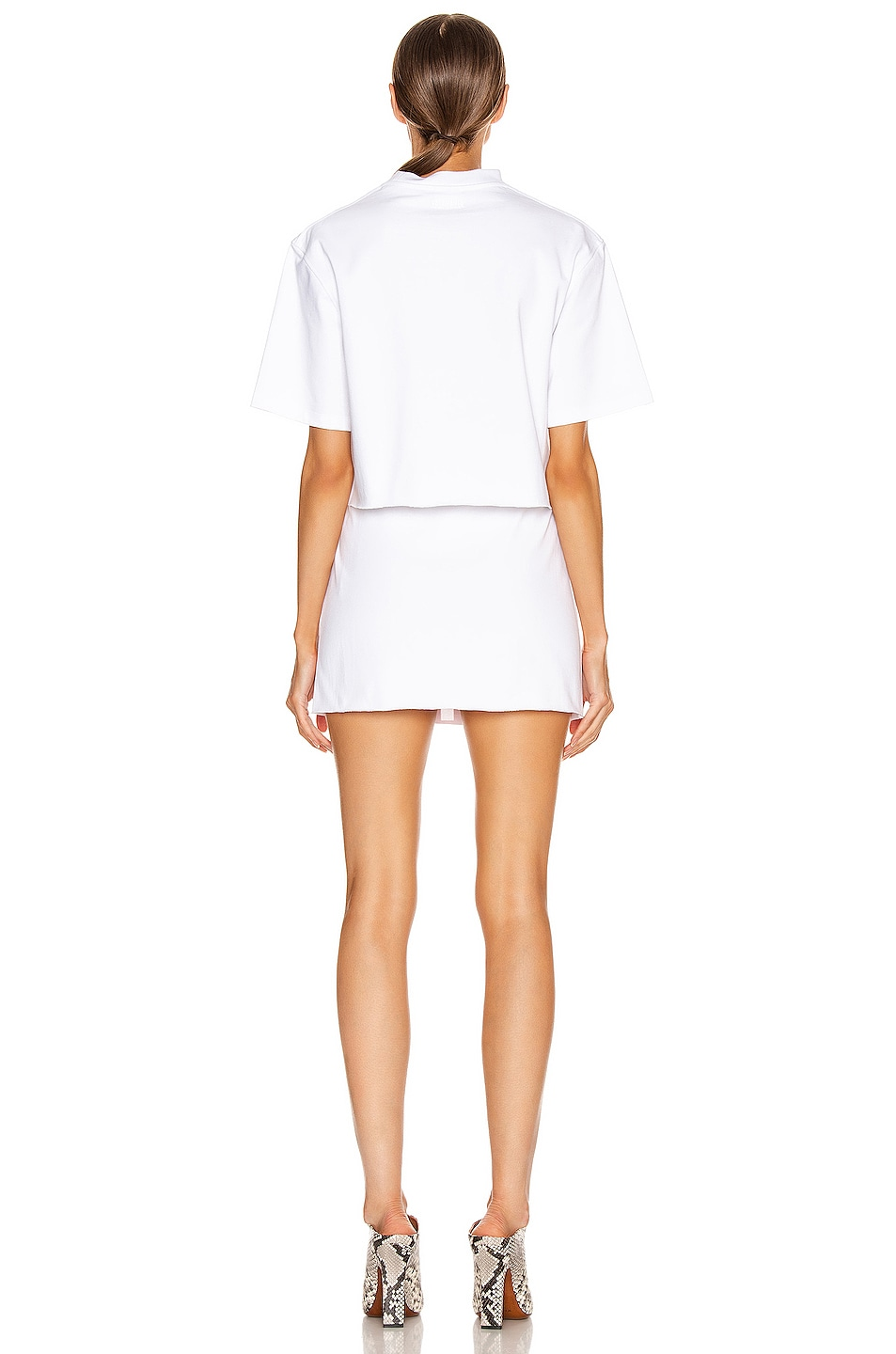 Image 4 of VETEMENTS Happy Birthday Twin T Shirt in White