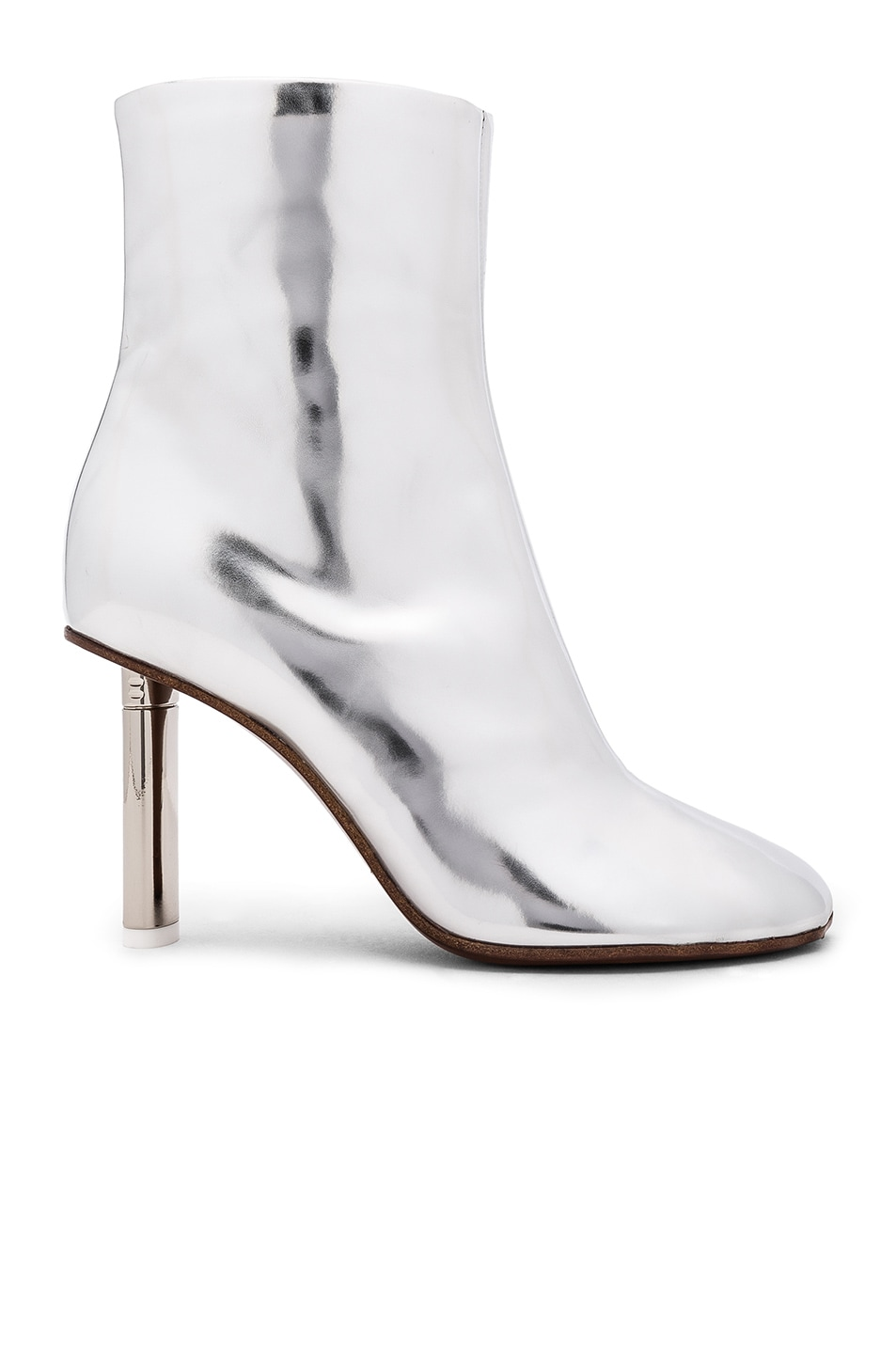 Image 1 of VETEMENTS Leather Toe Ankle Boots in Silver