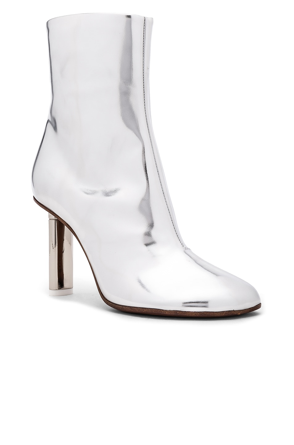 Image 2 of VETEMENTS Leather Toe Ankle Boots in Silver