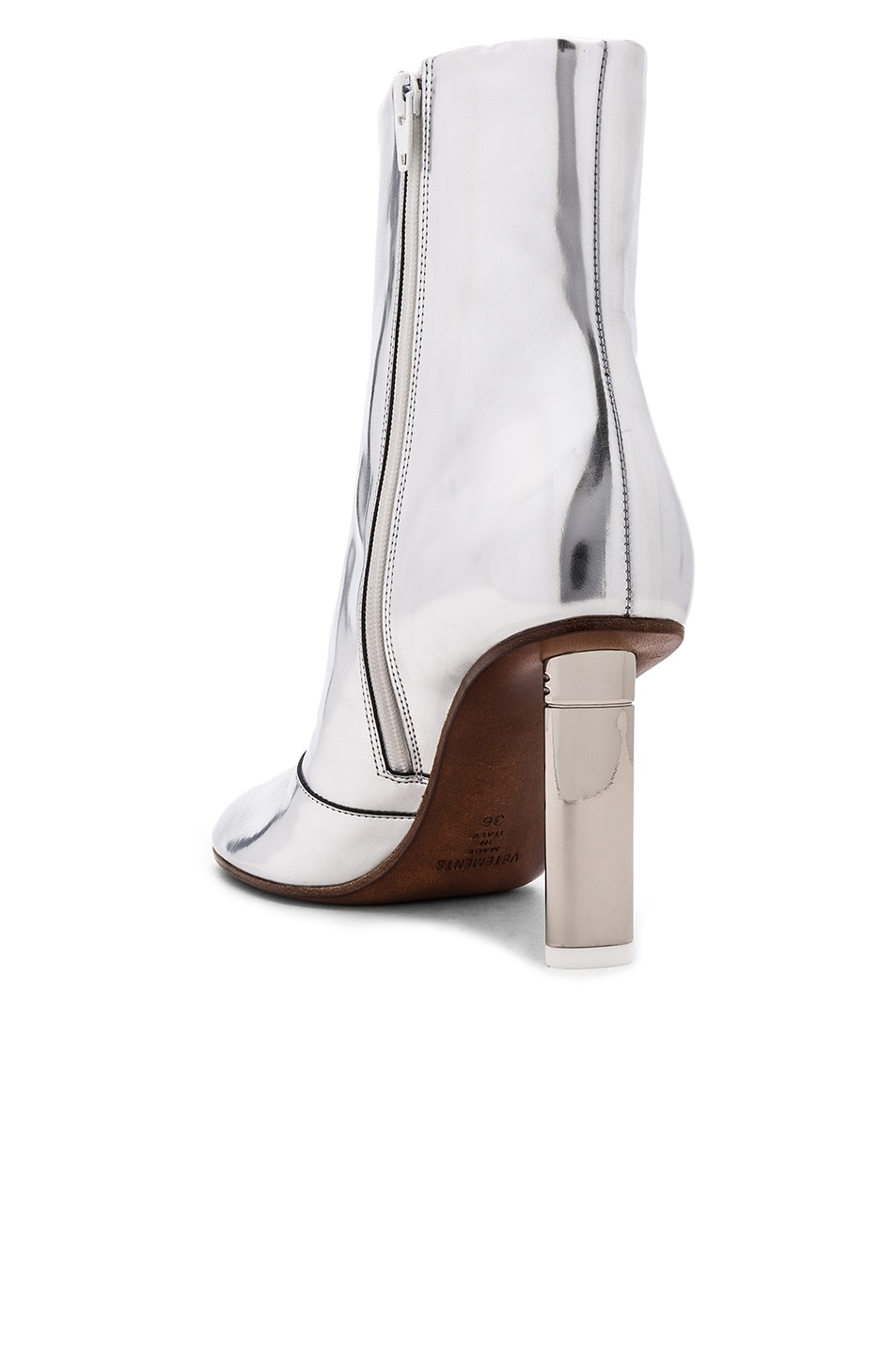 Image 3 of VETEMENTS Leather Toe Ankle Boots in Silver