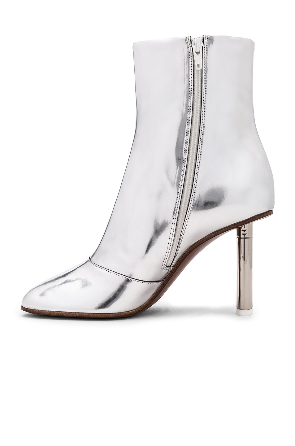 Image 5 of VETEMENTS Leather Toe Ankle Boots in Silver