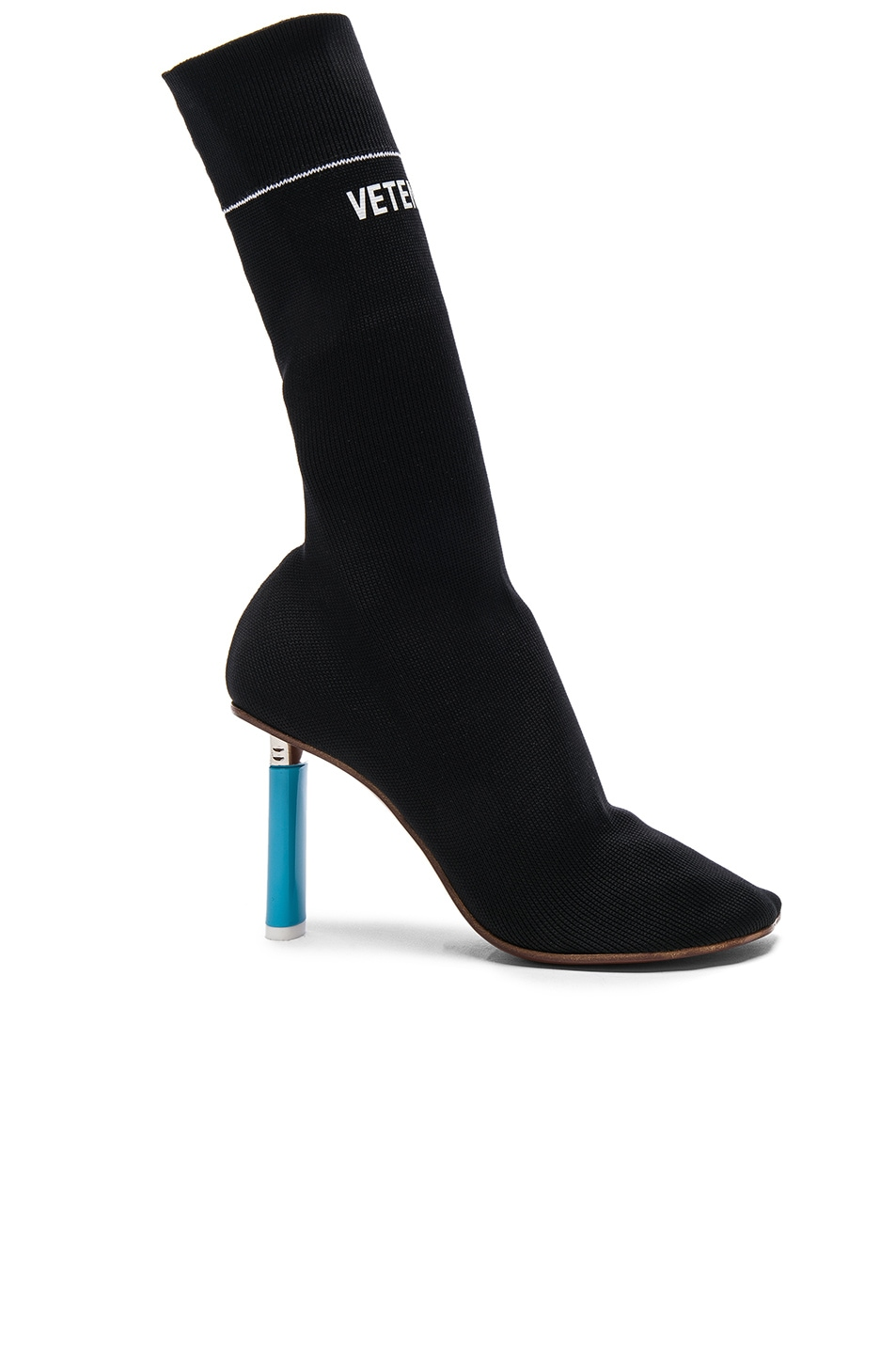 Image 1 of VETEMENTS Sock Ankle Boots in Black & Blue