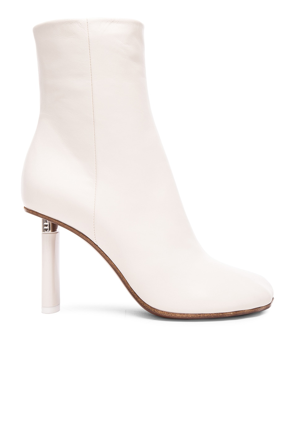 Image 1 of VETEMENTS Leather Ankle Boots in White