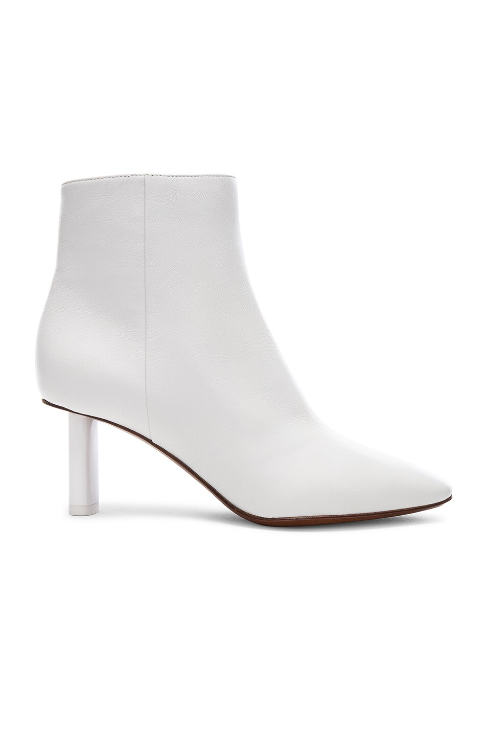 Image 1 of VETEMENTS Leather Ankle Boots in White & White