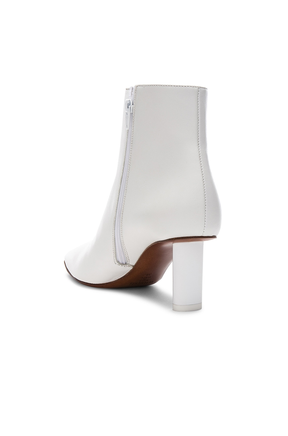 Image 3 of VETEMENTS Leather Ankle Boots in White & White