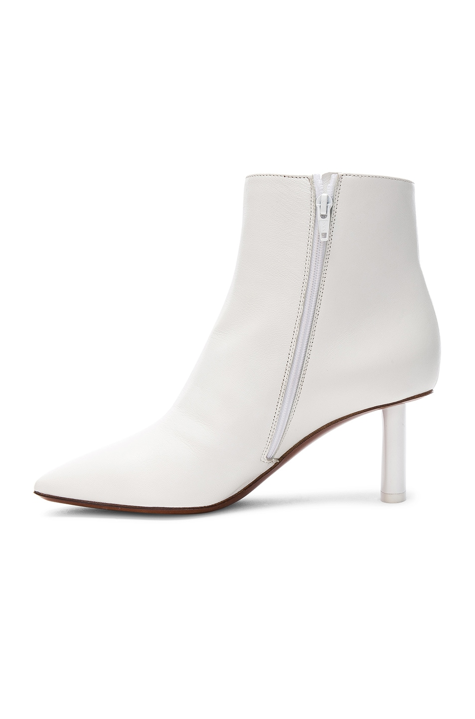 Image 5 of VETEMENTS Leather Ankle Boots in White & White