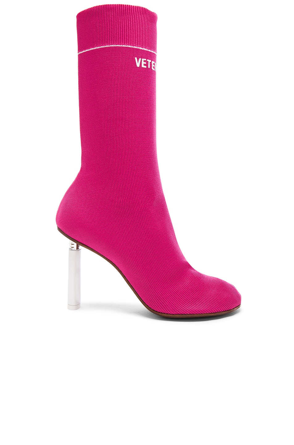 Image 1 of VETEMENTS Sock Ankle Boots in Pink & White