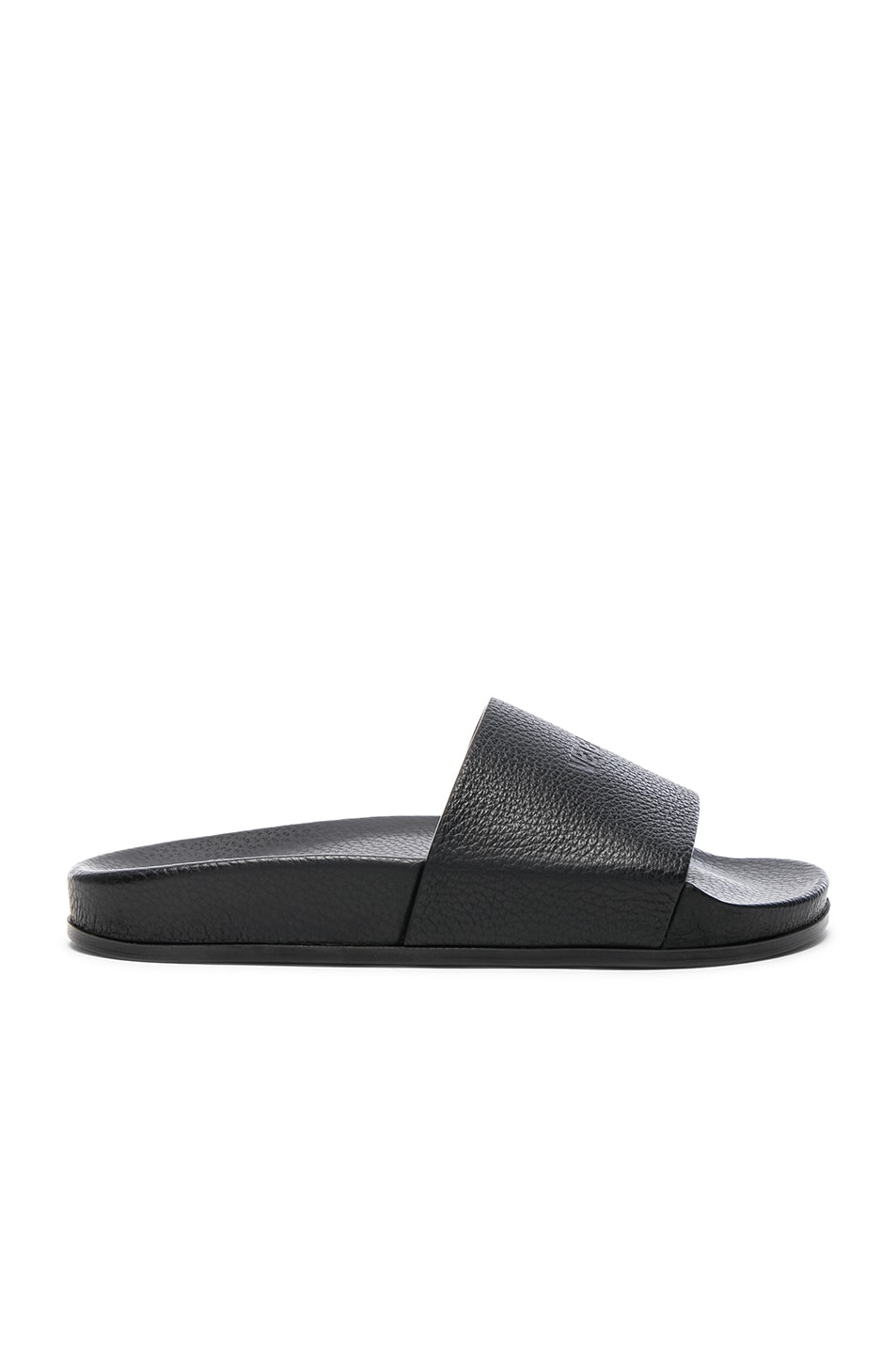 Image 1 of VETEMENTS Leather Slides in Black