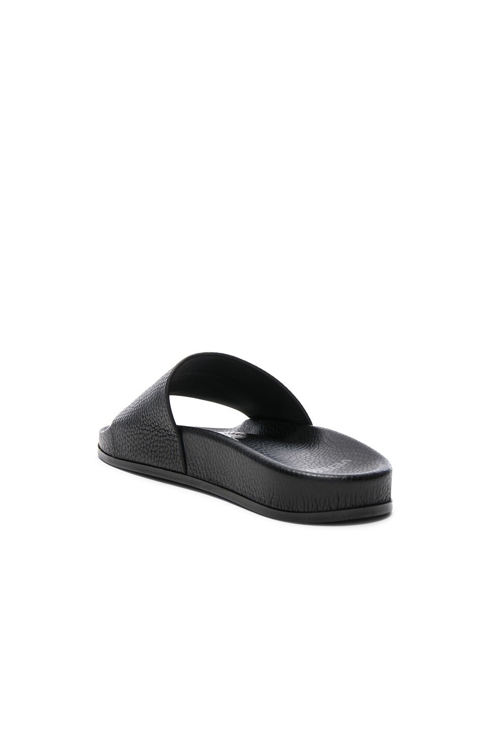 Image 3 of VETEMENTS Leather Slides in Black