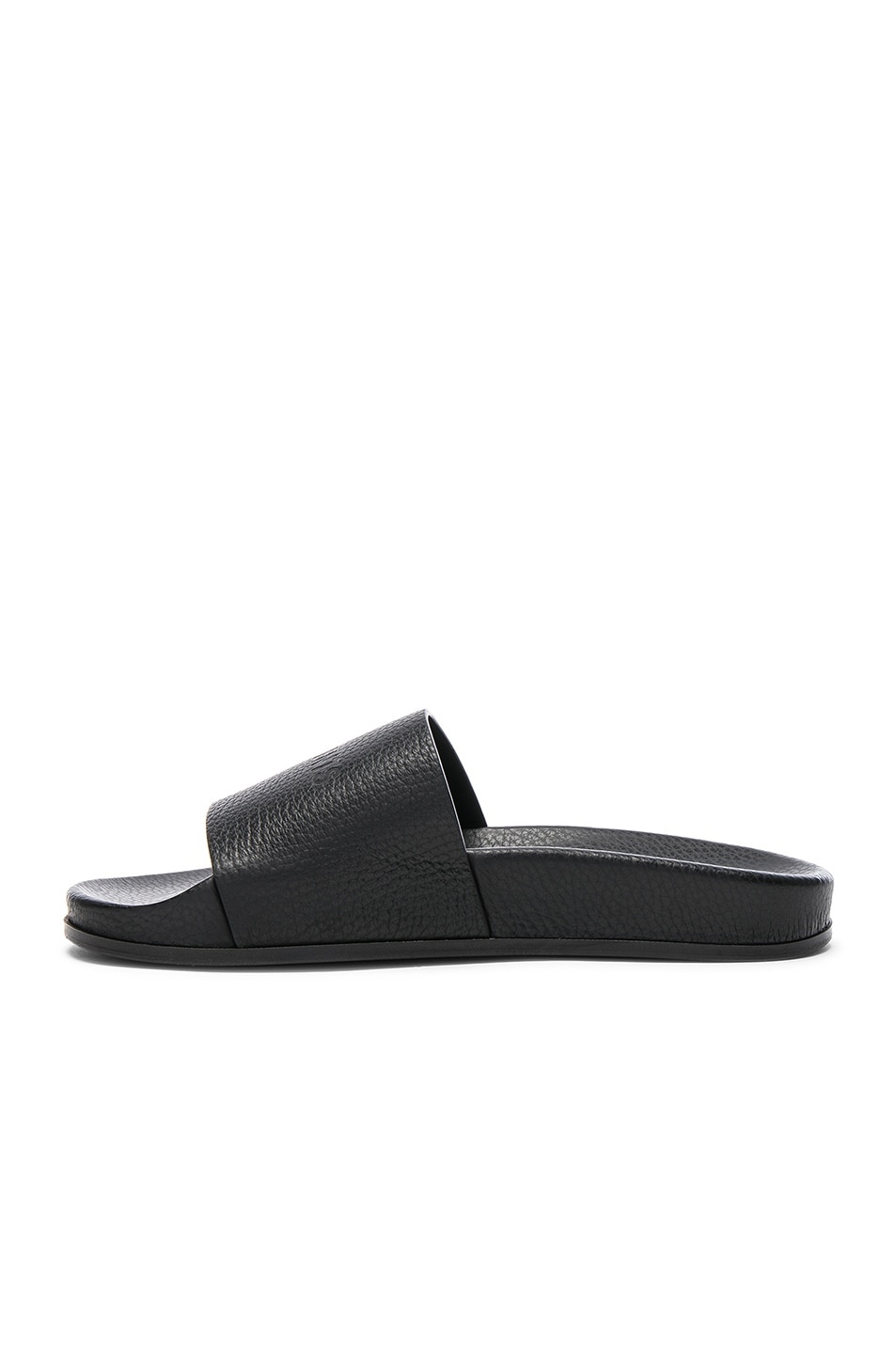 Image 5 of VETEMENTS Leather Slides in Black