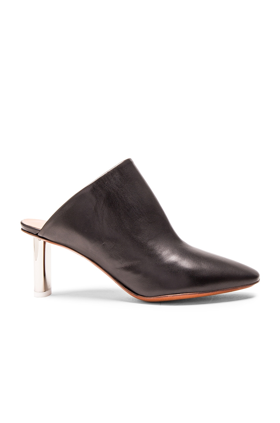 Image 1 of VETEMENTS Leather Mules in Black