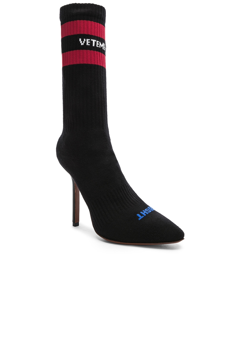 Image 3 of VETEMENTS Sock Pumps in Black