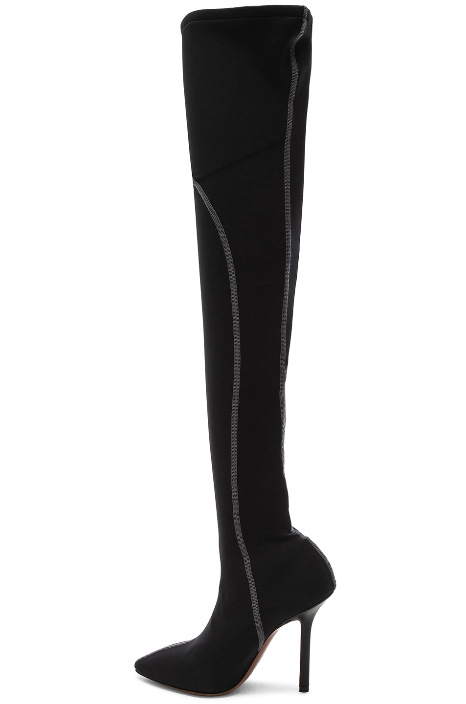 Image 5 of VETEMENTS Athletic Thigh High Pumps in Black