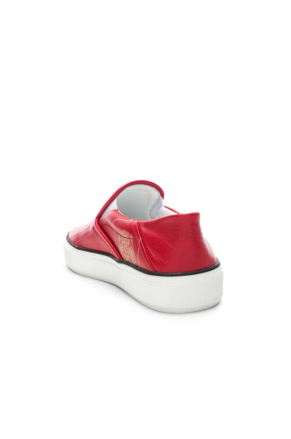 Image 3 of VETEMENTS Passport Slip Ons in Red