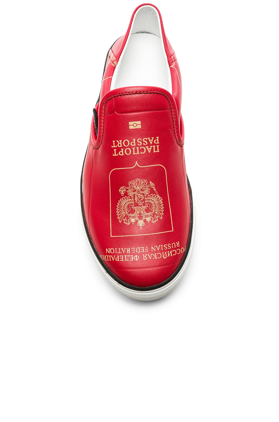 Image 4 of VETEMENTS Passport Slip Ons in Red
