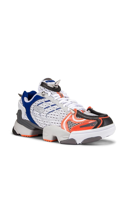 Image 2 of VETEMENTS Spike Runner 400 Sneakers in Fluo Orange
