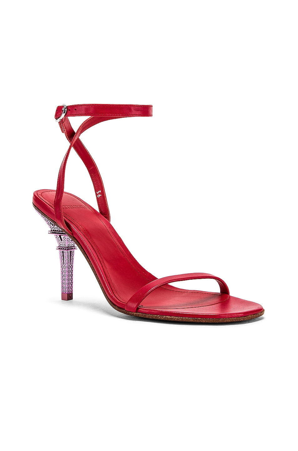 Image 2 of VETEMENTS Eiffel Tower Sandal in Red