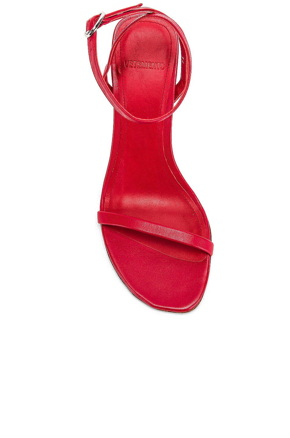 Image 4 of VETEMENTS Eiffel Tower Sandal in Red