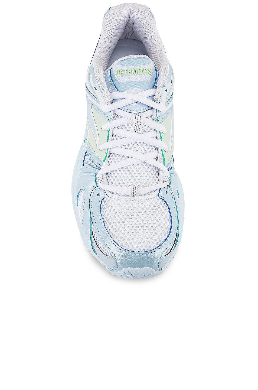 Image 4 of VETEMENTS Spike Runner 200 Sneakers in Pastel Blue